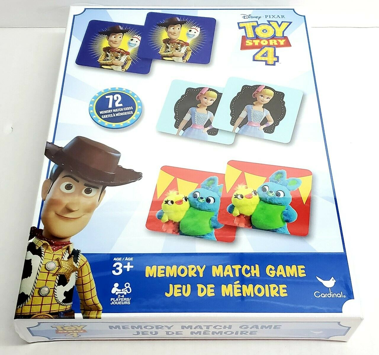 DISNEY PIXAR TOY STORY 4 Memory Match Game Cards Kids Educational NEW 1