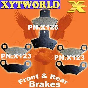 Front Rear Brake Pads For Polaris 455cc Diesel 2001