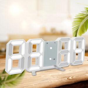 LED-Veilleuses-Horloge-Murale-3D-Numerique-Chiffres-Alarme-Snooze-Montre-12-24H