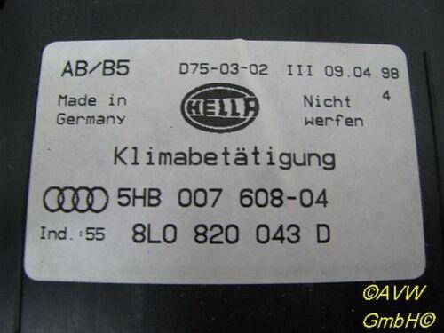 Klimaanlage 8L0820043D AUDI A4 8D2, B5 Bedienelement 1.6