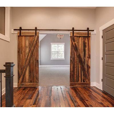 4M Black Sliding barn door Hardware for double doors