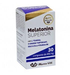 MELATONINA-SUPERIOR-30-compresse-466mg-Integratore-Cura-del-sonno