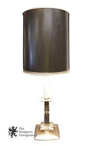 Vintage Aluminum Stiffel 39 Candlestick Table Lamp Double Bulb