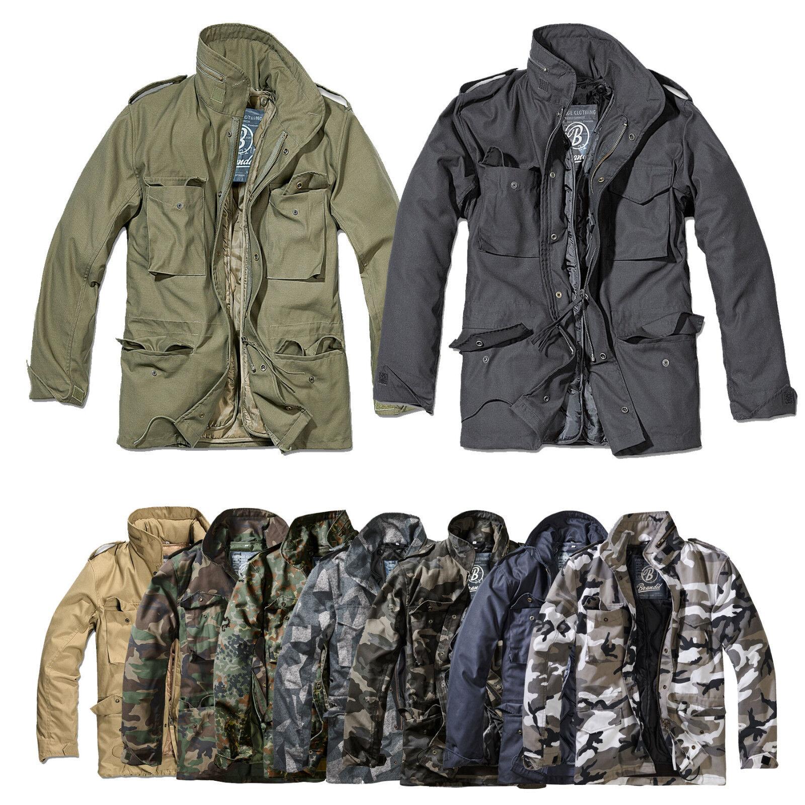 Details zu Brandit M65 Standard Feldjacke, Parka US Style Jacke mit Futter Vintage S 7XL