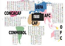 FIFA Team Cards for Subbuteo Scoreboard
