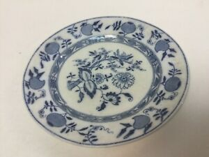 "ANTIQUE STAFFORDSHIRE ENGLAND FLOW BLUE ONION PATTERN 10"" PLATE c.1911"