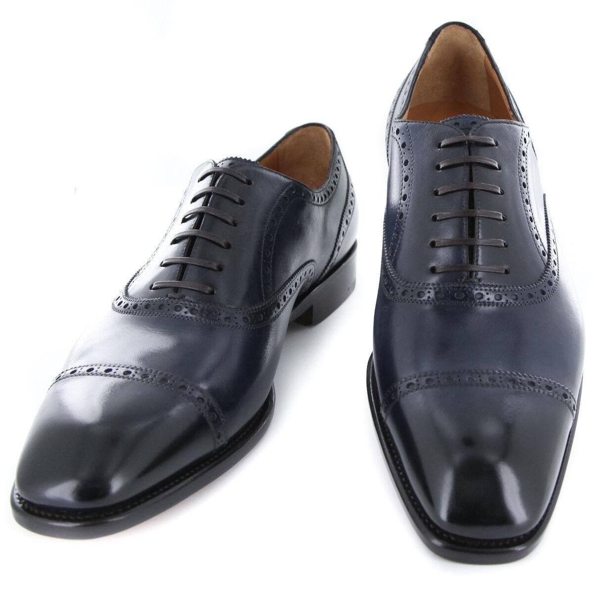 New  1250 Fiori Di Lusso blu scarpe - Wingtip Lace Ups - (BSNBLU)