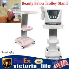 Beauty Salon Trolley Stand 4 Wheel Dental Manicure Spa Rolling Cart Whitepink