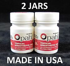 2 JARS Opahl 20% Benzocaine Topical Anesthetic RASPBERRY Tattoo Numbing Piercing