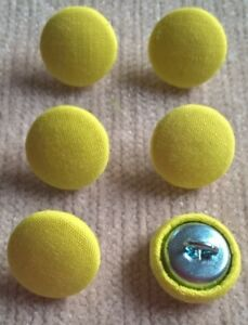 Jaune Vif 24L/15mm tissu boutons recouverts craft couture ameublement  </span>