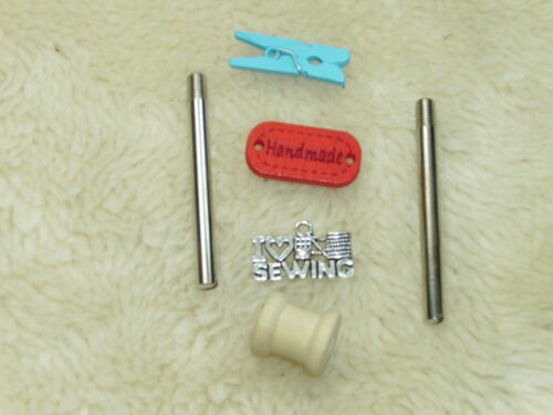 NEW MANY SINGER SOME 201-2 SOME KENMORE SCREW IN SEWING MACHINE SPOOL PIN X 2