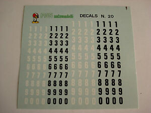DECALS-KIT-1-43-NUMERI-mm-4-5-NERI-BIANCHI-F1-24h-LE-MANS-INDY