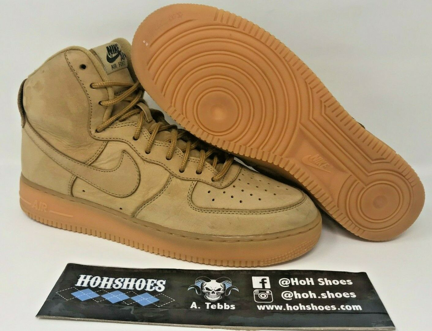Nike Air Force 1 High Flax Wheat (2017) 882096-200 Size 10 with replacement box