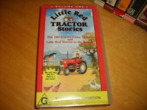 Little-Red-Tractor-Two-Stories-1987-UK-Issue-Rare-Vhs-Series-Kids-Colectable
