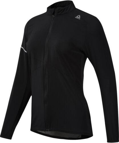 Reebok Lightweight Woven Womens Running Jacket Black