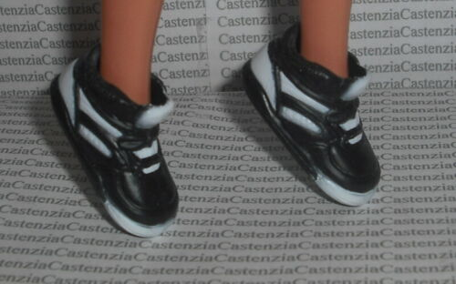 SHOES BARBIE DOLL CUBS BASEBALL BLACK /& WHITE SNEAKERS GYM SHOES ACCESSORY