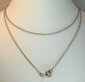 Vintage-Original-Soviet-Rose-Gold-Chain-14-KT-583-Russian-Gold-Necklace-Chain