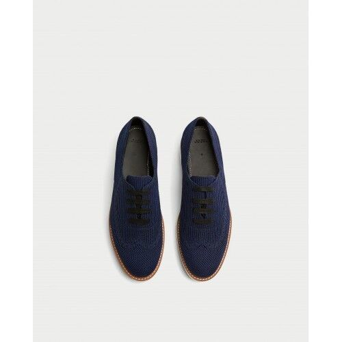 Zara Damens Fabric Platform Derby 7.5 Schuhes Navy Blau Größe 7.5 Derby EU 38 NWT 1b5ff1