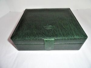 Pheasant Green Leather  Humidor Made in Spain