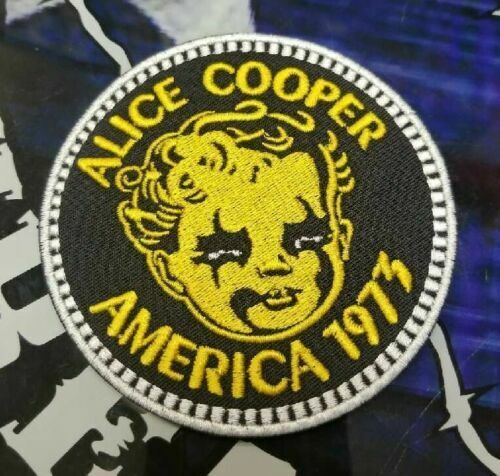 EMBROIDERED ALICE COOPER 1973 ROCK BAND PATCH