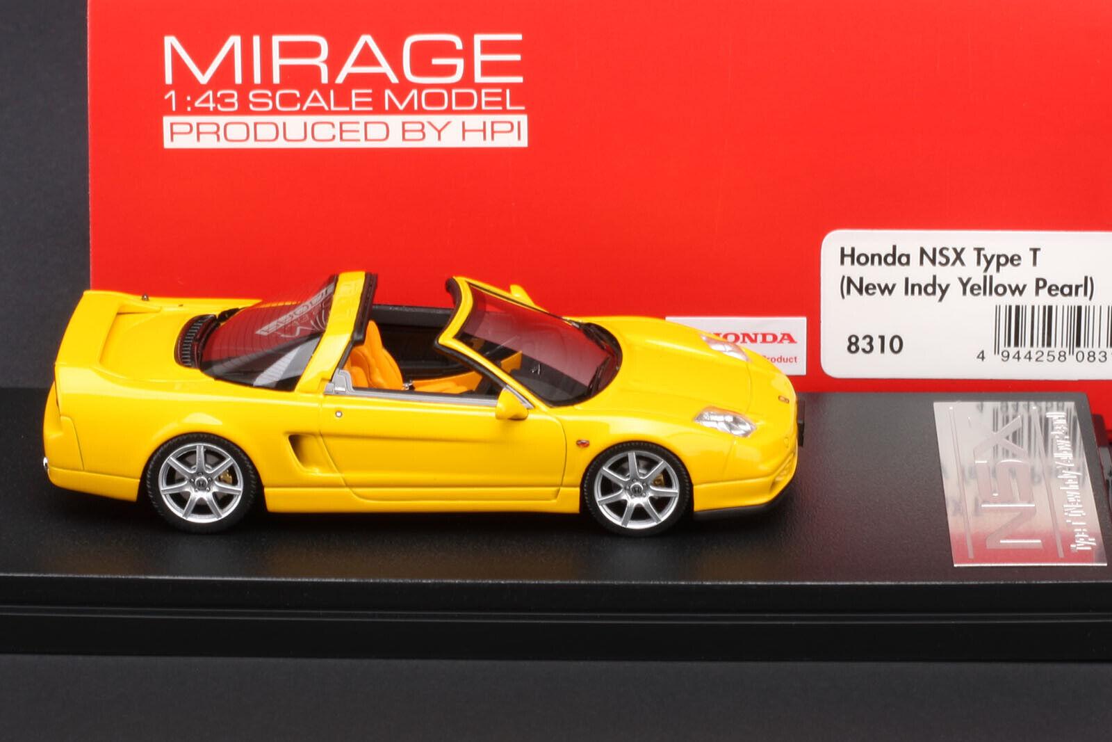 Honda Nsx Type T-nuevo Indy giallo Perla-Hpi Resina Acura NSX 1 43