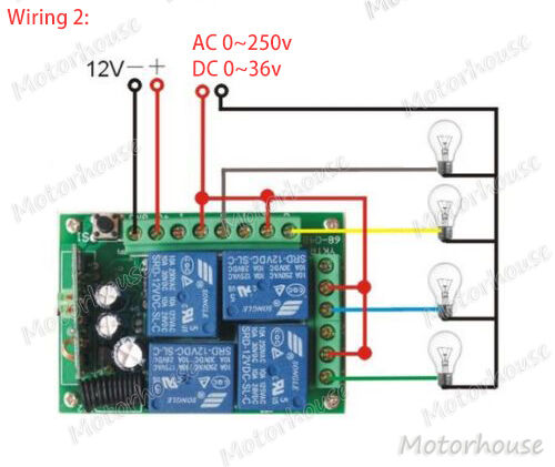 DC 12V 4CH Channel Wireless Remote Controllor Switch Transmitter Receiver Board