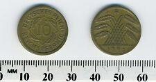 Germany 1925 A - 10 Reichspfennig Aluminum-Bronze Coin - Berlin Mint