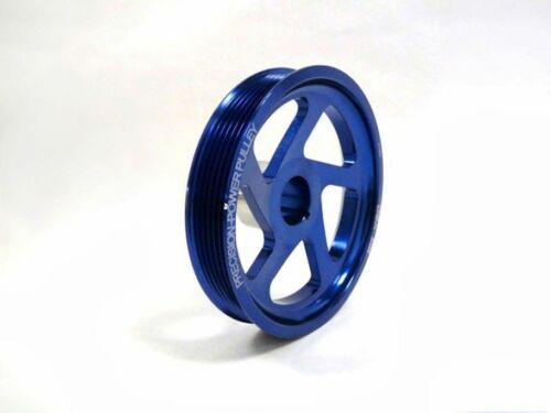 OBX Aluminum Underdrive Crank Pulley Fits 10 11 12 13 14 Genesis Coupe 2.0T Blue