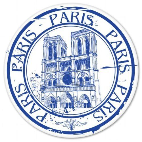 Paris Notre Dame Voyage Stamp Design Voiture Vinyle Autocollant-sélectionnez la taille