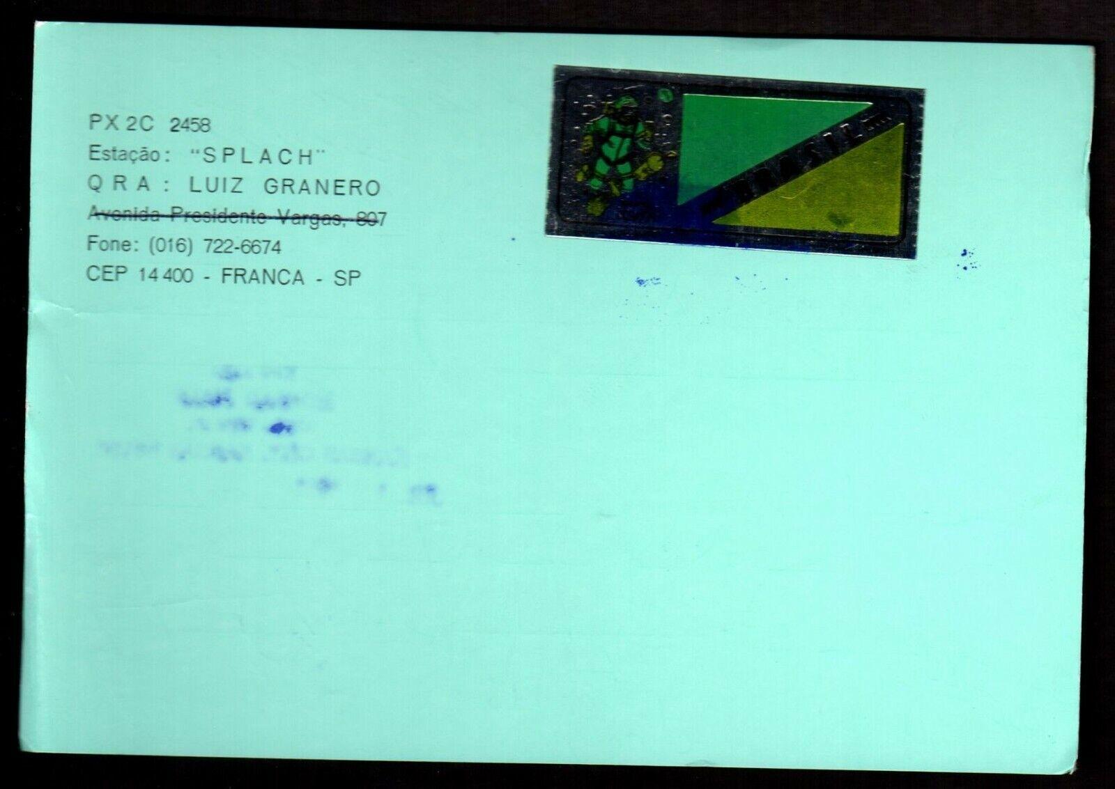 QSL QSO RADIO CARD Luiz Granero,Splach, Brazil (Q3877)