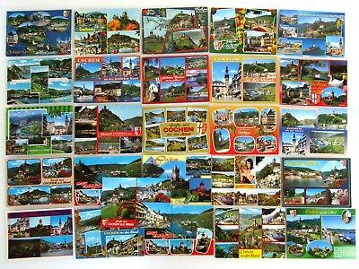 26 X Cochem Ad. Mosel Postkarten Lot Ak Gelaufen, Frankiert Mit Briefmarken