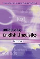Meyer, Charles F.-Introducing English Linguistics  BOOK NEW