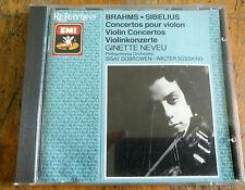 CD EMI References GINETTE NEVEU Brahms & Sibelius: Violin Concertos Japan 1987