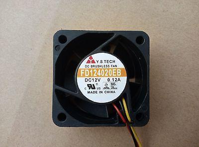 1pc   Y.S.TECH FD124015MB fan 40*40*15mm  12V 0.12A 3pin