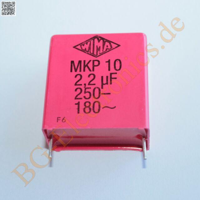 10 x 0.100µF 0.100uF 100nF 160V MKP-10 RM15 Folien Kondensator Ca WIMA  10pcs