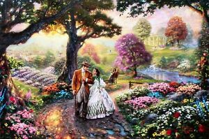 Thomas-Kinkade-Gone-With-The-Wind-18x27-Gallery-Proof-Limited-Edition-Lithograph