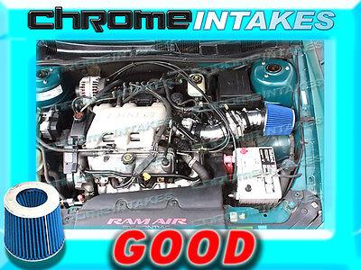 BLUE 1997-2005//97-05 PONTIAC GRAND AM//ALERO//MALIBU 3.1L 3.4L V6 AIR INTAKE TB
