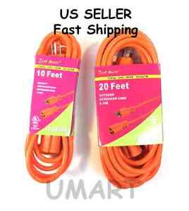 Ul Listed Extension Cord 10 20 25 50 100 Feet Long Indoor