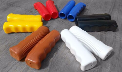 GP062WT White Classic bicycle grips cruiser vintage lowrider Balloon Rubber Ergo