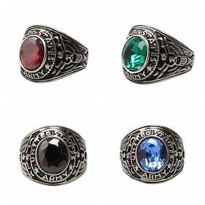 New-Men-039-s-Women-039-s-Punk-Rhinestone-Finger-Ring-Titanium-Steel-Band-Jewelry-Charm