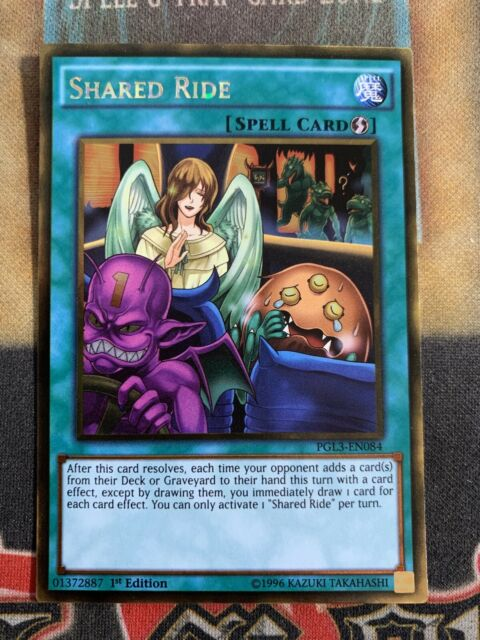 PGL3-EN084 SHARED RIDE Gold Rare 1st Edition YuGiOh Card