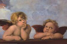 RAPHAEL ~ ANGELS CHERUBS 24x36 FINE ART POSTER Abgel Raffaello Sanzio da Urbino