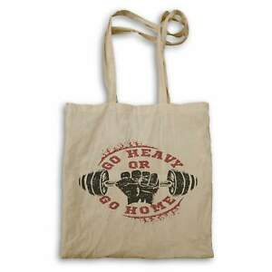 Go Heavy Or Go Home Weights Lifting Retro Logo  Tote bag hh846r