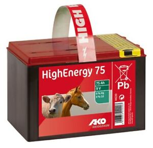 High Energy Saline 9 Volt 75 Ah Trockenbatterie mit Trageband KB 44220