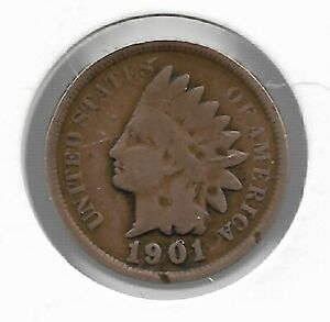Rare-Antique-US-1901-Indian-Head-Penny-Collectible-Collection-Coin-Cent-LOT-C57