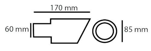 Auspuff-Endrohr Rand Rohr Heck für Toyota Yaris Auris