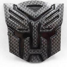 NEW JDM Carbon Fiber Transformers AUTOBOT Car Badge Emblem Sticker Trunk SIDE