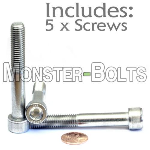A2 Stainless Steel SOCKET HEAD CAP Screws Qty 5 DIN 912 M10-1.5 x 70mm