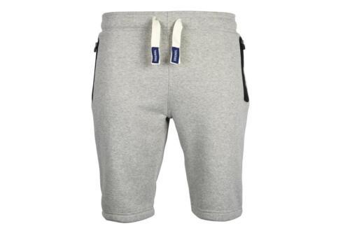 Mens Plain Joggers Sweat Summer Shorts Zip Pockets Fleece Gym Jogging Bottoms