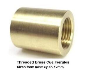 Billiard-Cue-Ferrules-Threaded-brass-cue-ferrules-for-glue-on-tips-Free-UK-P-amp-P